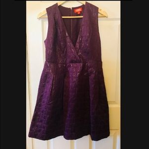 Kirna Zabete Metallic Magenta Dress Sz 6